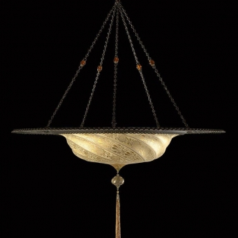 Scudo Saraceno Glass Suspension Fortuny Lamps And