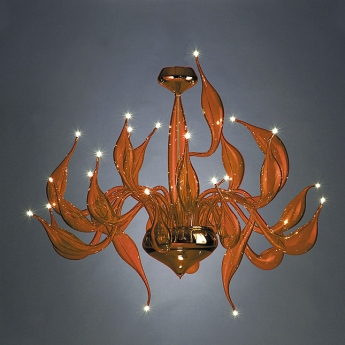 Aladdin orange chandelier art deco xx century murano lite aladdin orange mozeypictures Images