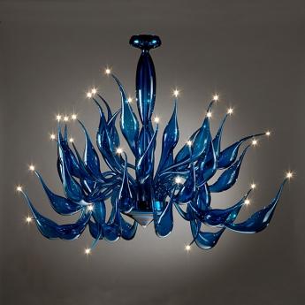 Aladdin blue chandelier art deco xx century murano lite aladdin blue aloadofball Gallery