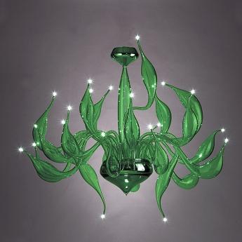 Aladdin green chandelier pendant lighting murano lite 1000 aladdin green aloadofball Gallery